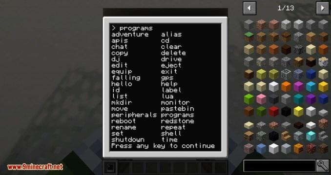 CC Tweaked mod for minecraft 04