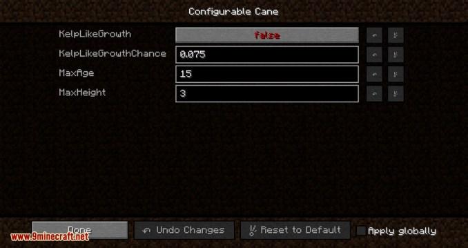 Configurable Cane mod for minecraft 06