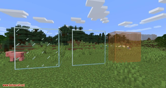 Connected Glass mod for minecraft 08