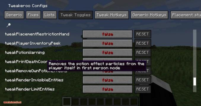 Tweakeroo mod for minecraft 05