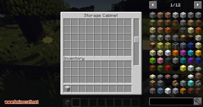 Storage Cabinet mod for minecraft 02