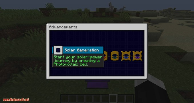 Solar Generation mod for minecraft 10