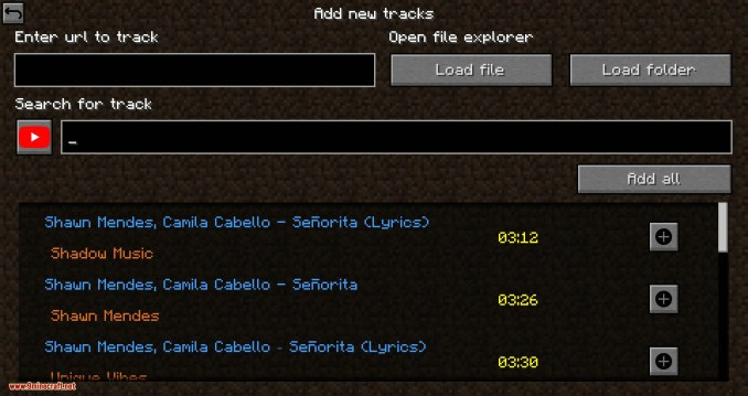 Music Player mod for minecraft 04