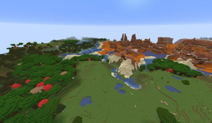 Many Biomes At Spawn and Huge Mesa - Top 19 Best Minecraft Seeds 1.16.5 Java & Bedrock (April 2021)