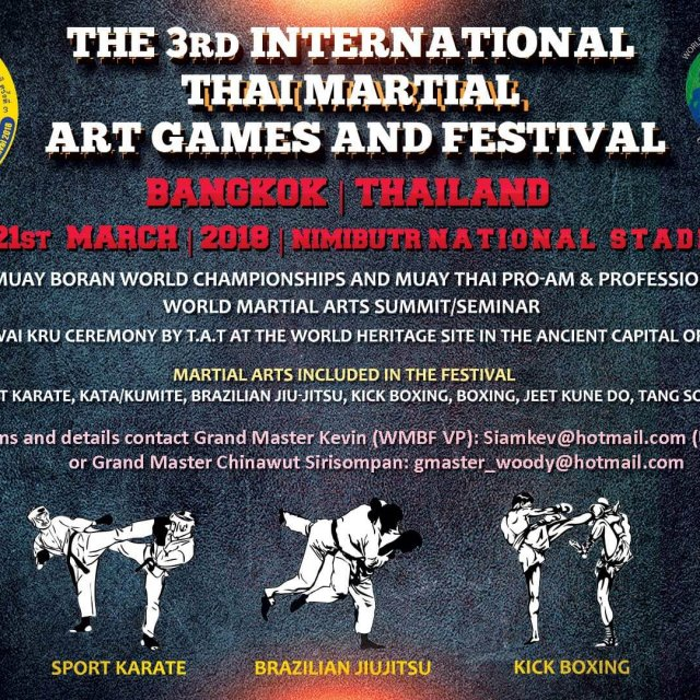 3rd International & Thai Martial Art Games and Festival