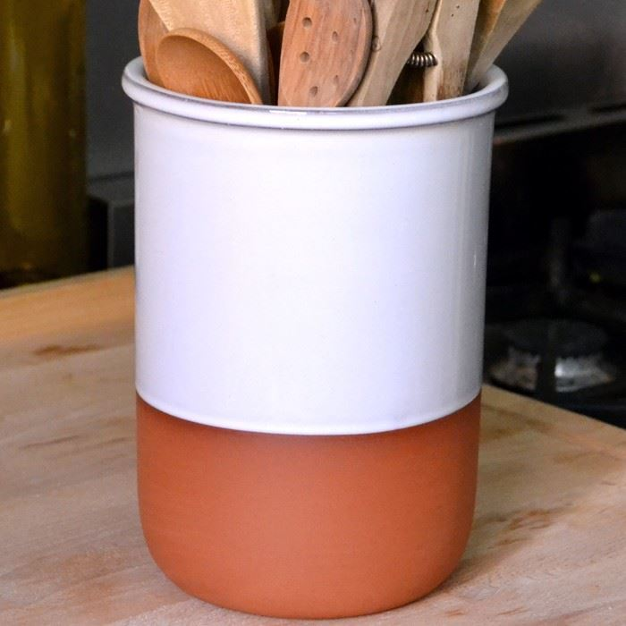 kitchen crocks little kids terracotta utensil pots | weston mill pottery uk