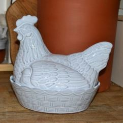 Kitchen Utensil Diy Outdoor Kitchens On A Budget Chicken Egg Holder - Translucent White Glazed | Weston ...