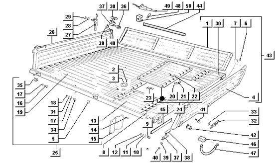 Tafel 88/A Pritschenwagen (ladeklappen und klappe aus