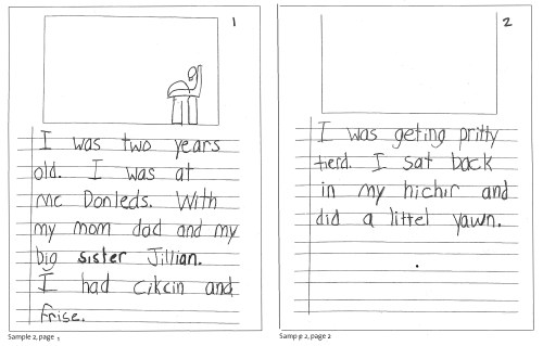 small resolution of Writing Samples - Ages 6-9 - Wilmington Montessori School
