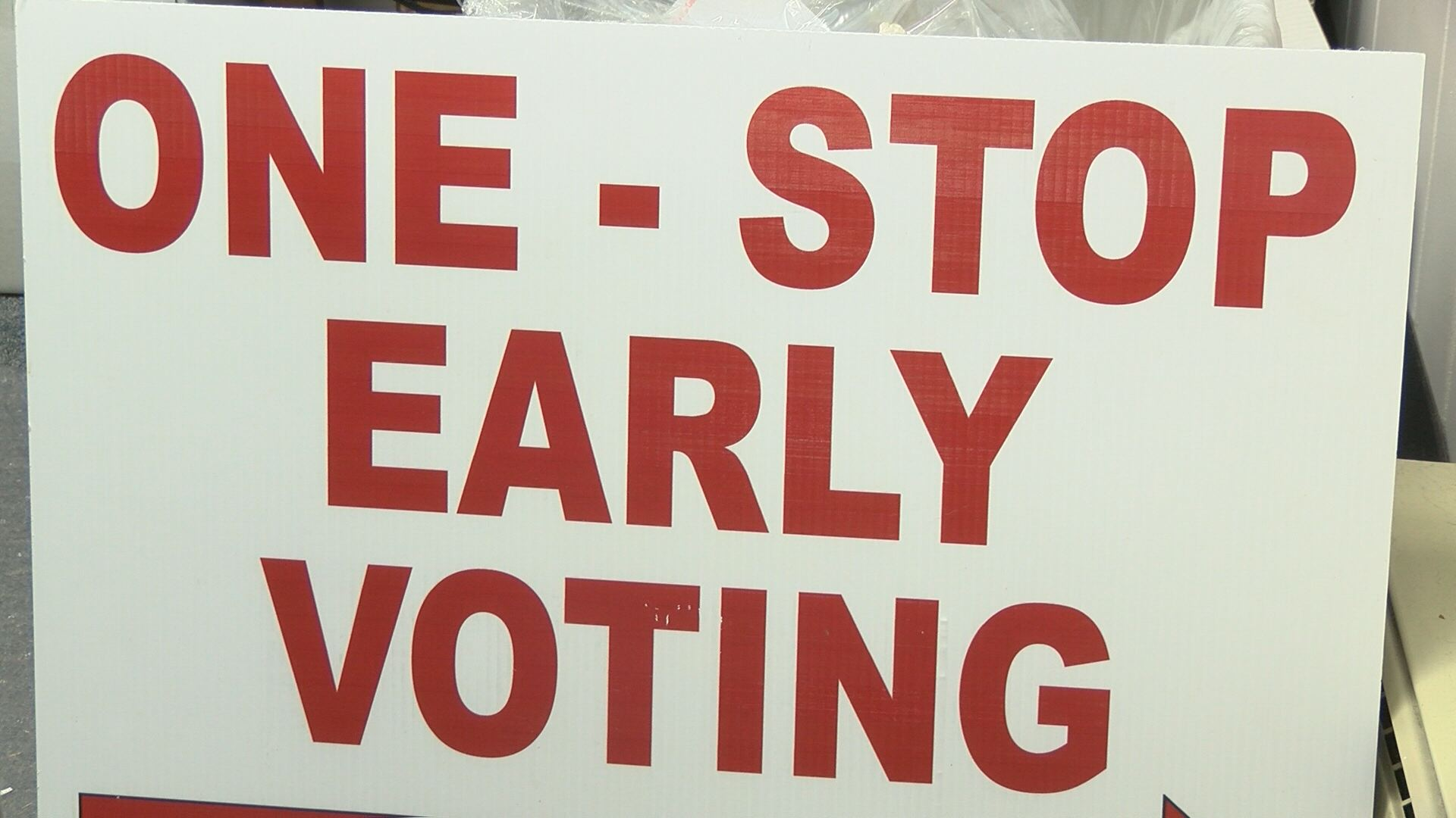 One Stop Early Voting Sign