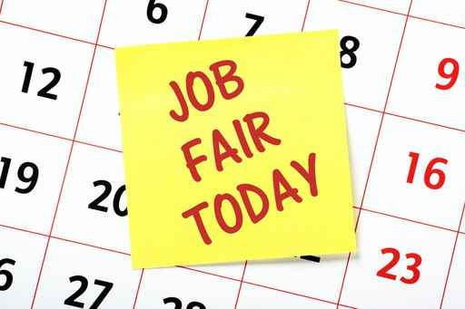 Job Fair Today reminder note on a calendar page_1521829322240