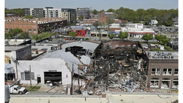 Durham Explosion Drone Shot