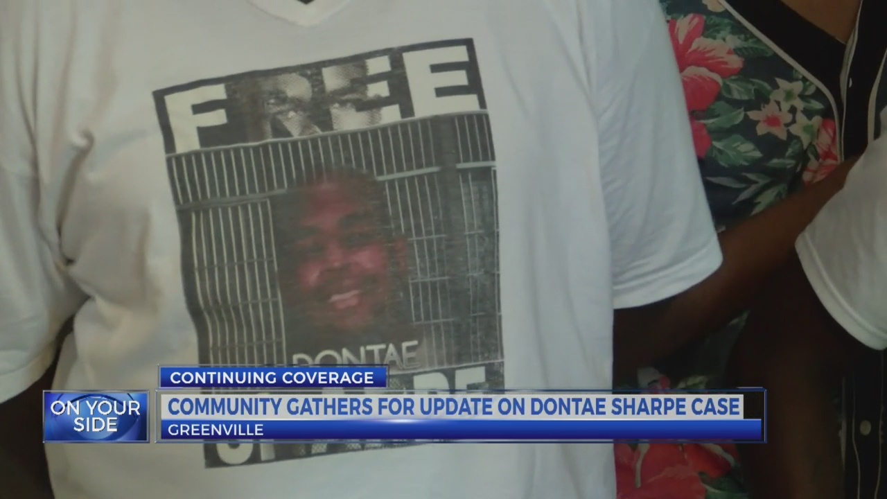 Community gathers for update on Dontae Sharpe case