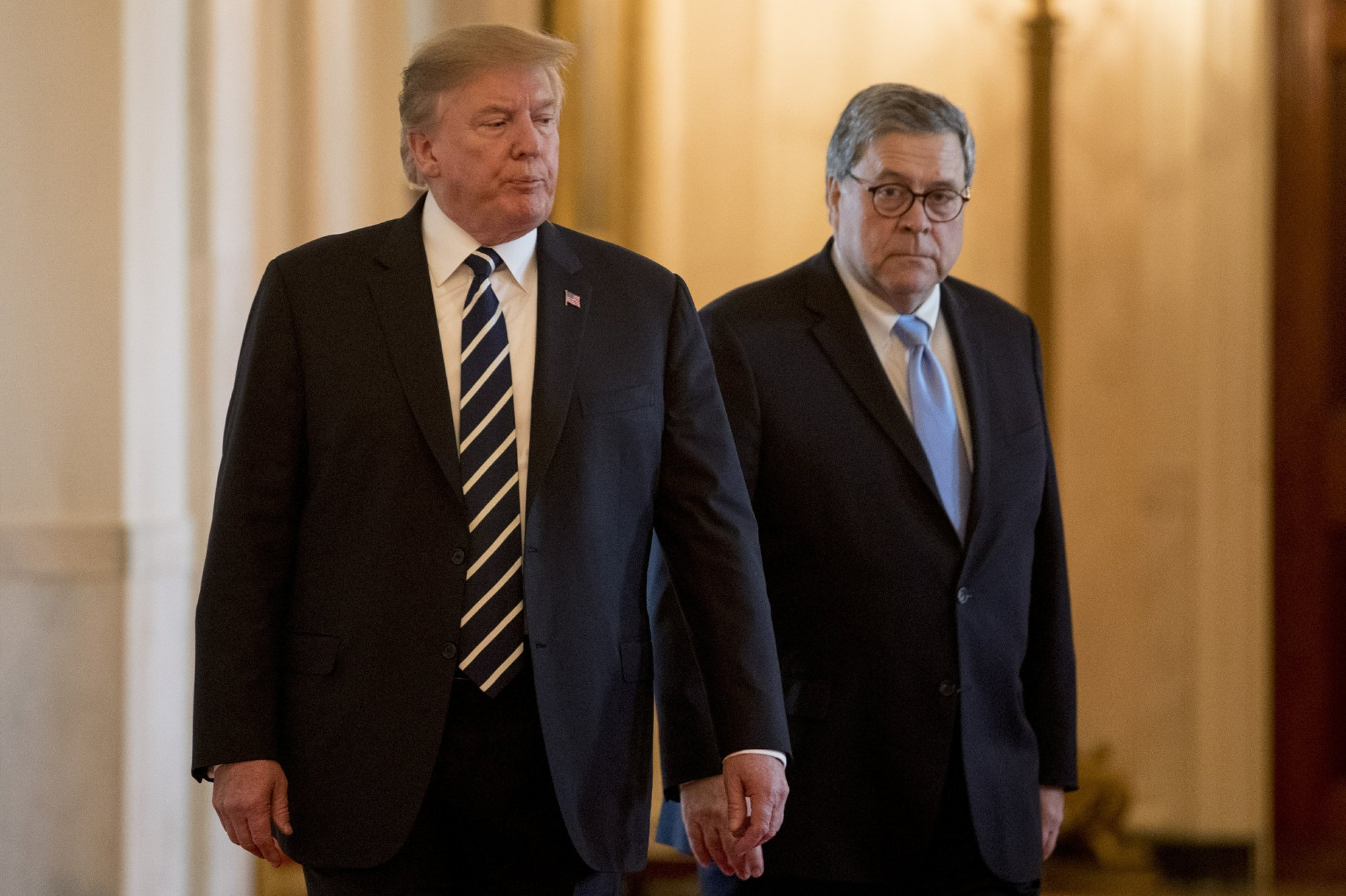 President Trump and William Barr
