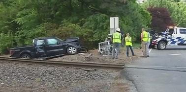 Truck Hit By Train Durham