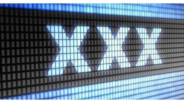 XXX Text Graphic