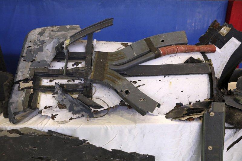 Debris from U.S. Drone Shot in Iran