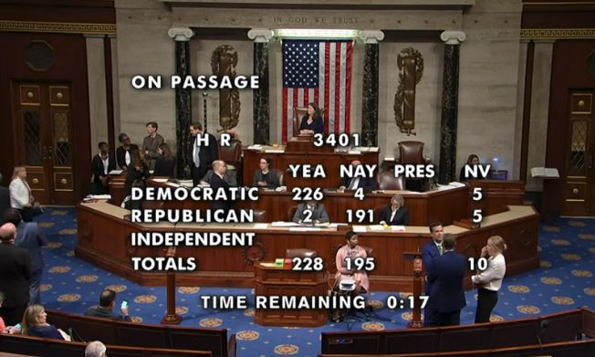 HR 3401 Passage - June 25, 2019