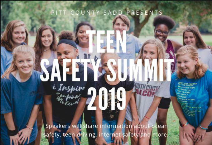 Pitt Co. Teen Safety Summit 2019 Poster
