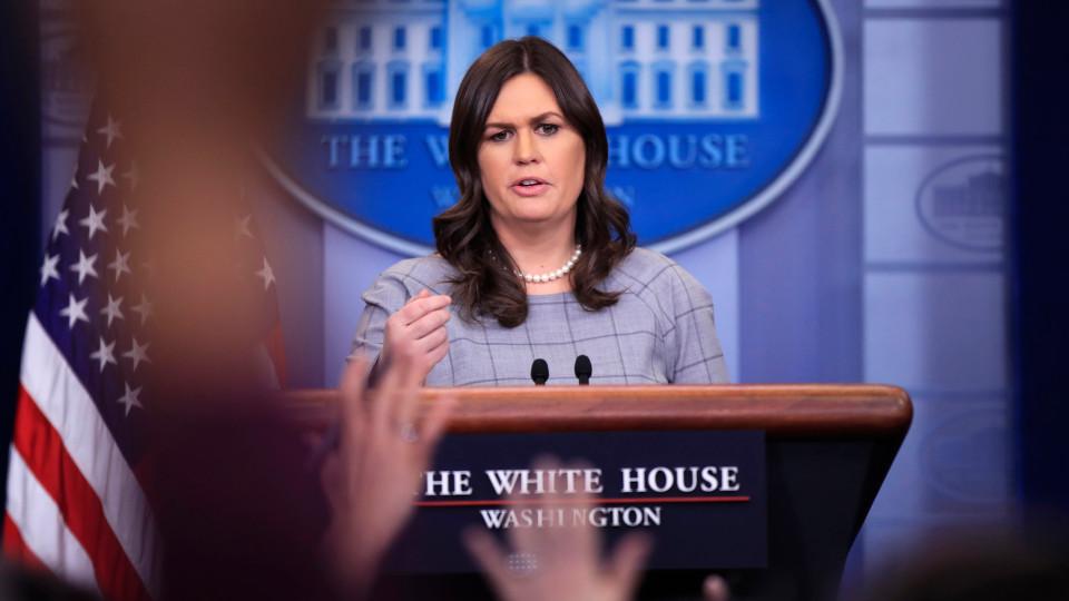 Sarah Huckabee Sanders Speaks at White House