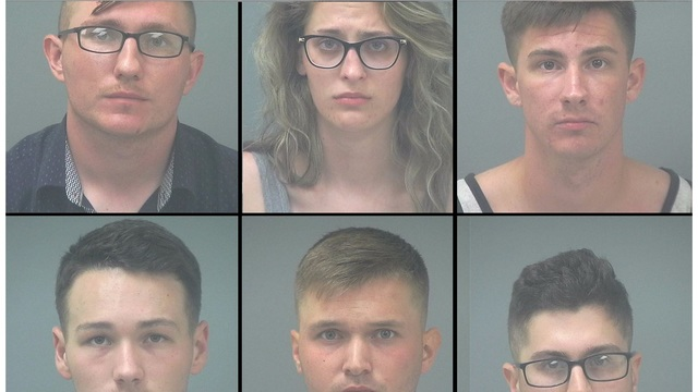 newlyweds and guests arrested for school break-in