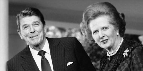 President Ronald Reagan and British Prime Minister Margaret Thatcher