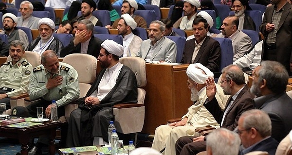(Courtesy Fars News Agency) Islamic Republic's officials at the 9th international conference on Mahdism Doctrine