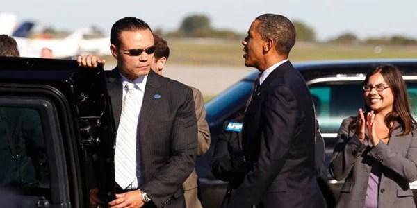Dan Bongino and then-President Obama