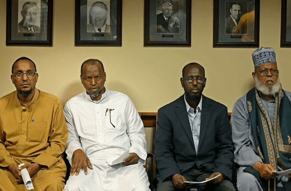 Somali refugees get ready to meet with city officials in Minneapolis, Minnesota.