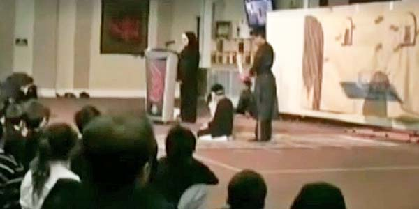 Children perform in mock beheading at Islamic Jaffari Center in Thornhill, Ontario