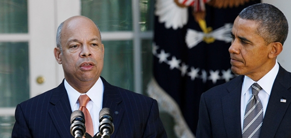 DHS Secretary Jeh Johnson and President Obama