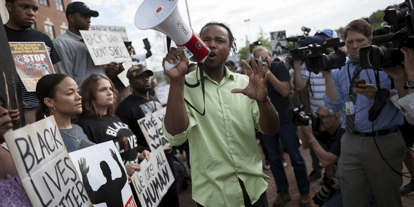 BlackLivesMatter protesters take to the streets.