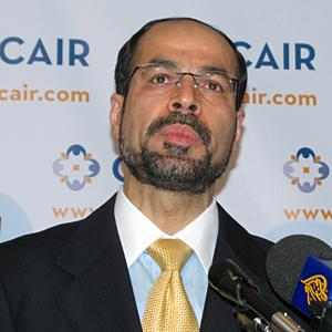 Nihad Awad, executive director of CAIR (VOA Photo/M. Elshinnawi)
