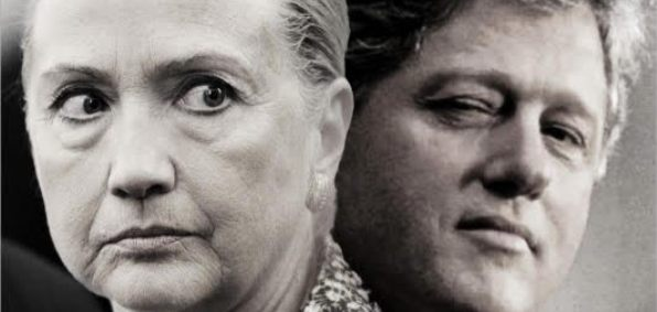 Image result for image of evil Hillary and Bill Clinton