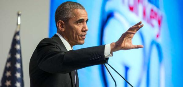 President Obama speaking at the G-20 Summit in Turkey (White House photo)
