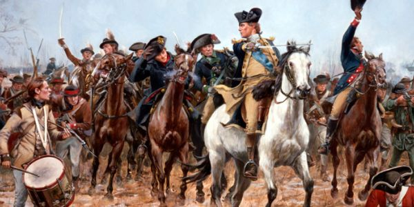 George Washington in Battle of Princeton