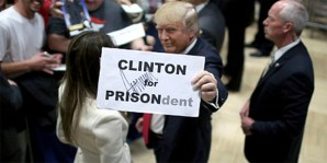Image result for lock her up chant