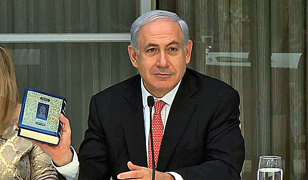 Benjamin Netanyahu recommends people read the Bible (courtesy CBN video)