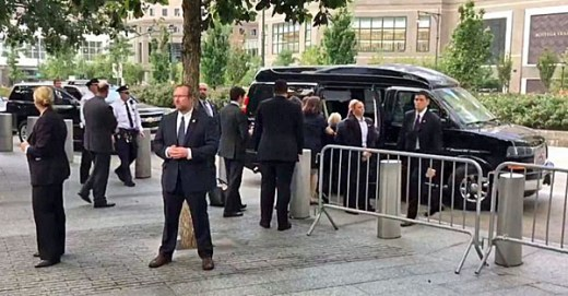 Hillary Clinton collapses while being carried into a van in New York City on Sept. 11, 2016