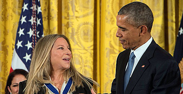 Barbra Streisand and President Obama