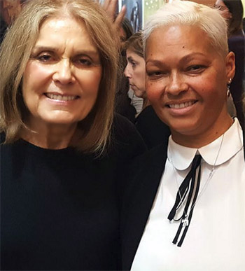 Donna Hylton with feminist Gloria Steinem (Photo: DonnaHylton.com)