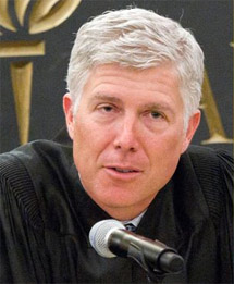 Supreme Court nominee, Federal Judge Neil M. Gorsuch