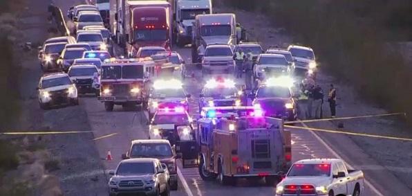 Crime scene: Arizona state trooper attacked on I-10