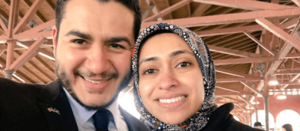 Dr. Abdul El-Sayed with wife Sarah.