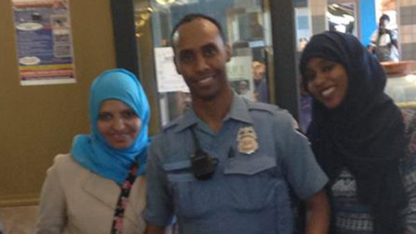 Mohamed Noor, from a Somali refugee family, pictured with family.