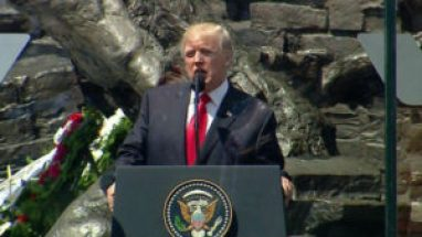 President Trump speaking in Warsaw, Poland, July 6, 2017.