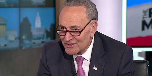 Sen. Chuck Schumer, D-N.Y. (Photo: Screenshot/MSNBC)