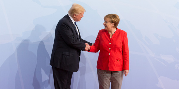 President Trump and German Chancellor Angela Merkel (Photo: Flickr/White House)