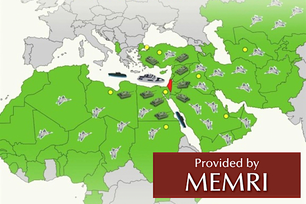 A depiction of an 'Army of Islam' against Israel published in the Turkish newspaper Yeni Safak (courtesy MEMRI)