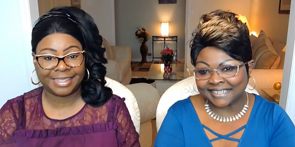 Diamond and Silk, sisters whose real names are Lynnette Hardaway and Rochelle Richardson (Photo: Screenshot/Fox News video)